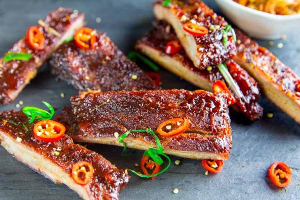 Smoked Spicey Korea Spareribs prepared by Chris Sussman.